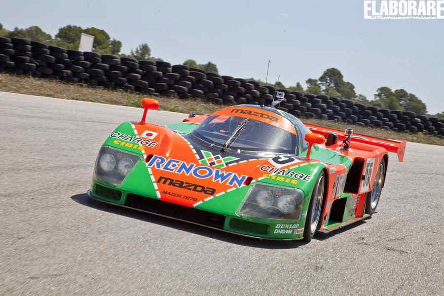 Mazda 787B Le Mans 1991, livrea verde e arancione
