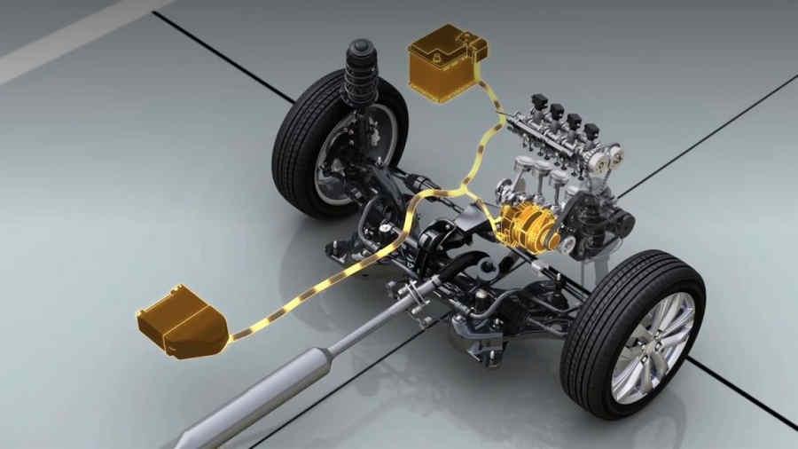 Schema sistema ibrido Suzuki Swift mild hybrid