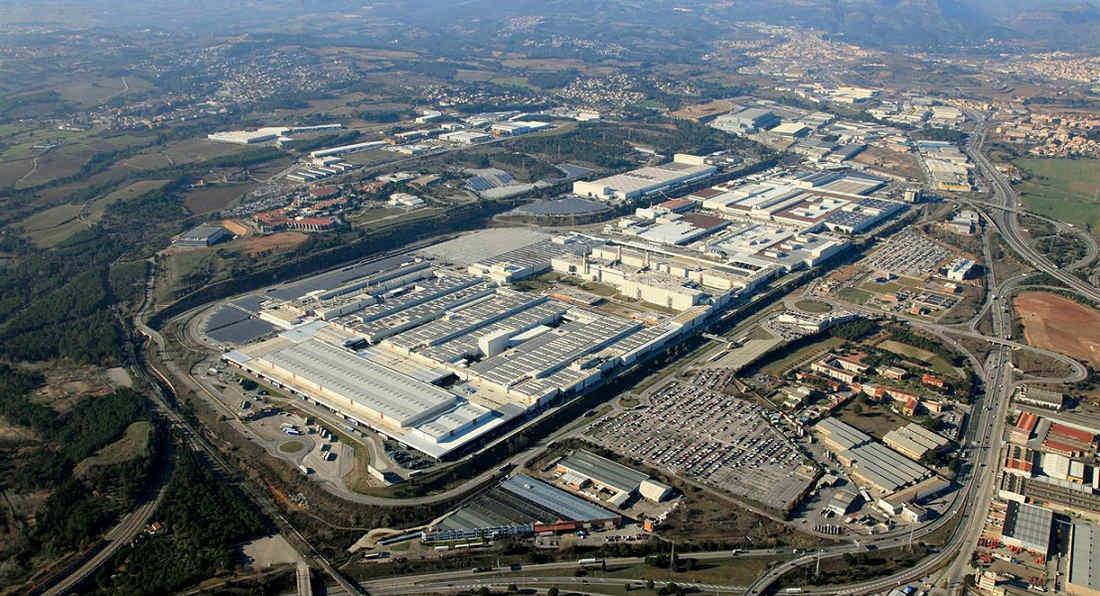 la fabbrica Seat a Martorell in  Spagna