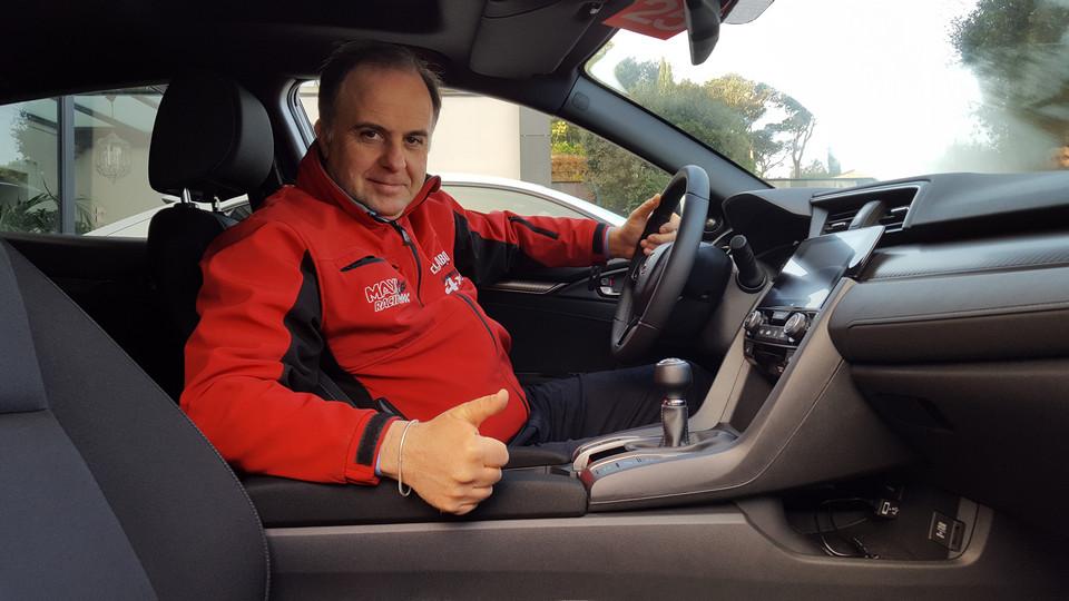 Giovanni Mancini primo contatto con la nuova Honda Civic 2017