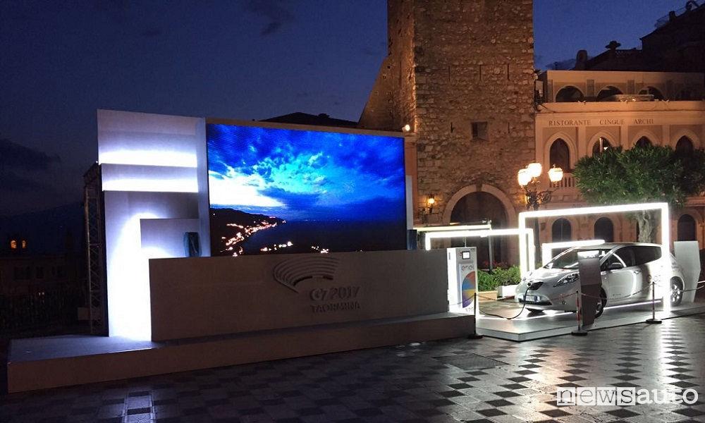 Photo of Enel e Nissan al G7 di Taormina