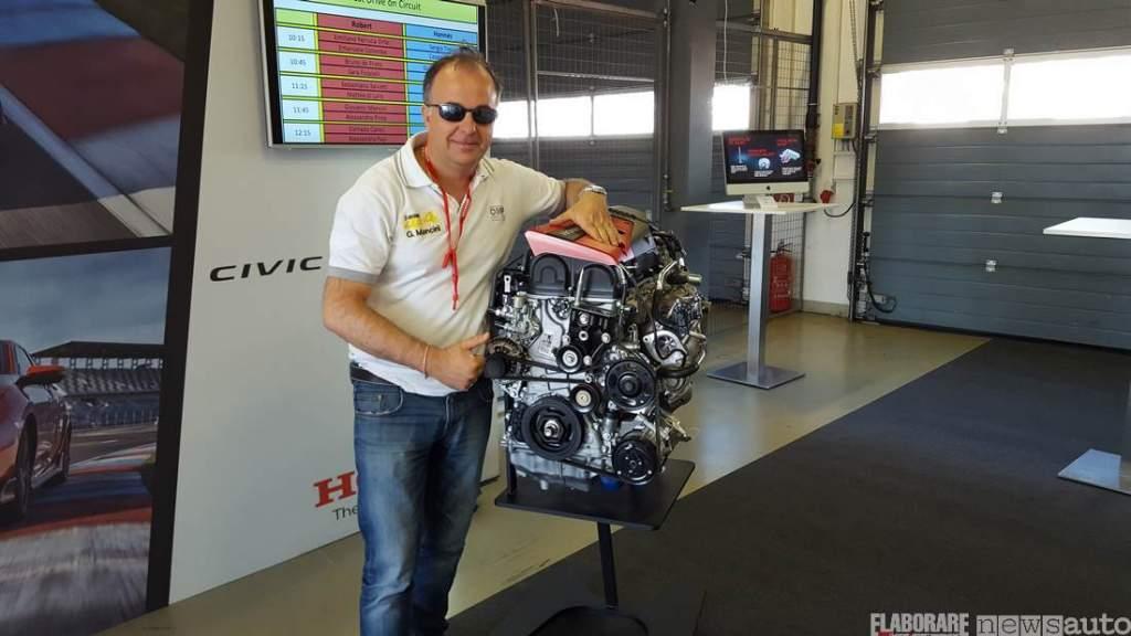 Il motore turbo Vtec della Honda Civic Type R