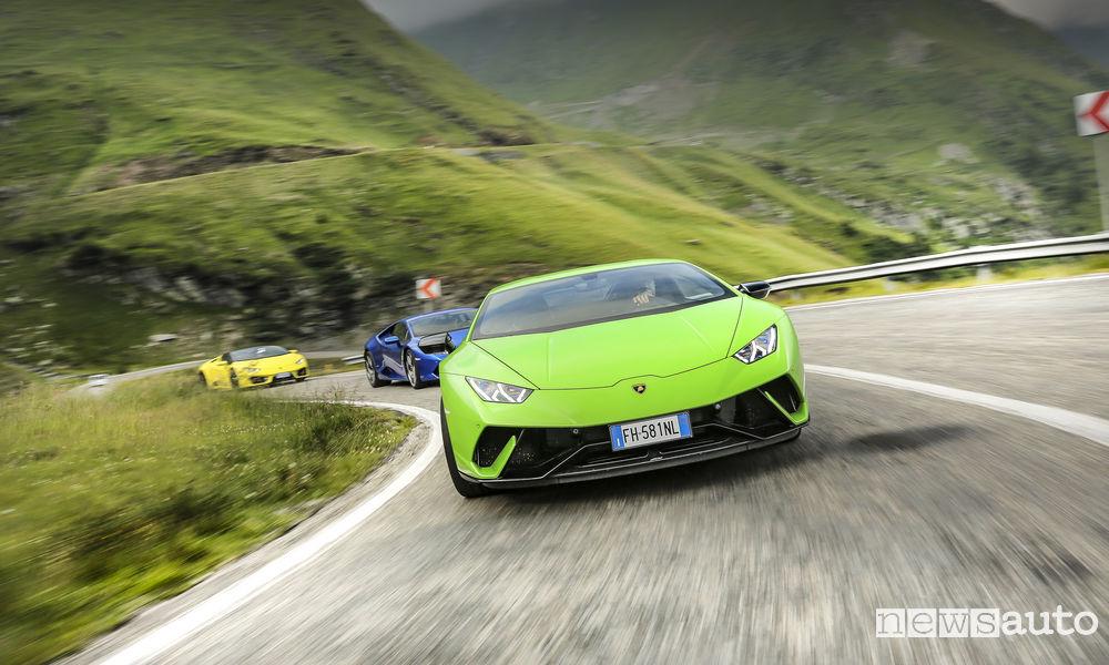 Photo of Lamborghini Huracán in Transilvania sulla Transfăgărășan