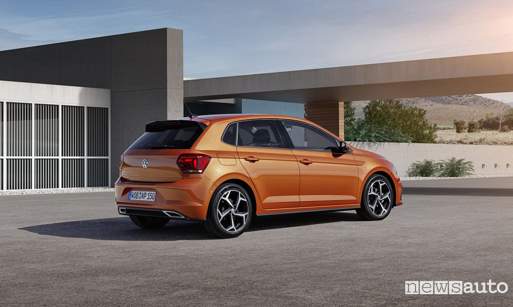 Vista posteriore Volkswagen Polo Sport