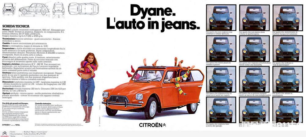 spot Citroën Dyane, l'auto con gli jeans