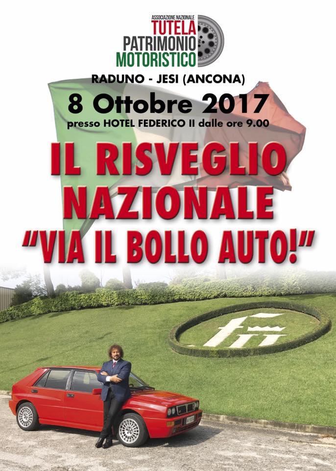 Locandina Primo Incontro Tutela Patrimonio Motoristico 2017 esenzione bollo auto storiche