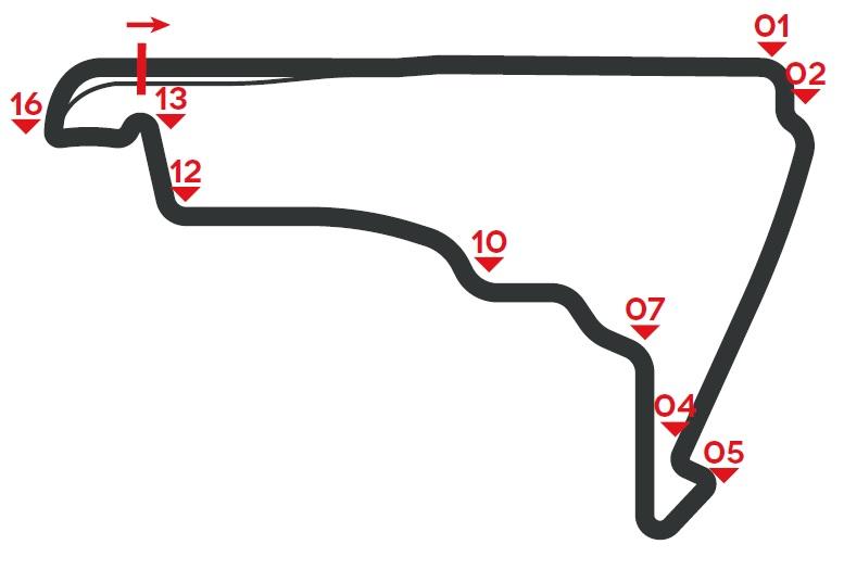 F1 Messico circuito mappa