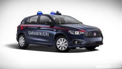 Fiat Tipo ai Carabinieri