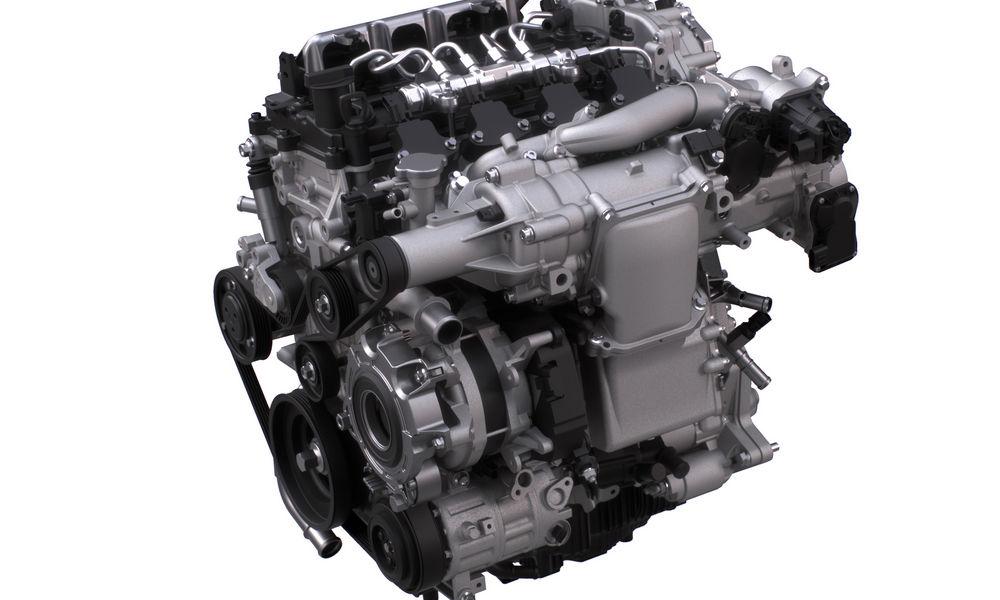 Compressore volumetrico ed alternatore reversibile sul motore Mazda Skyactiv-X