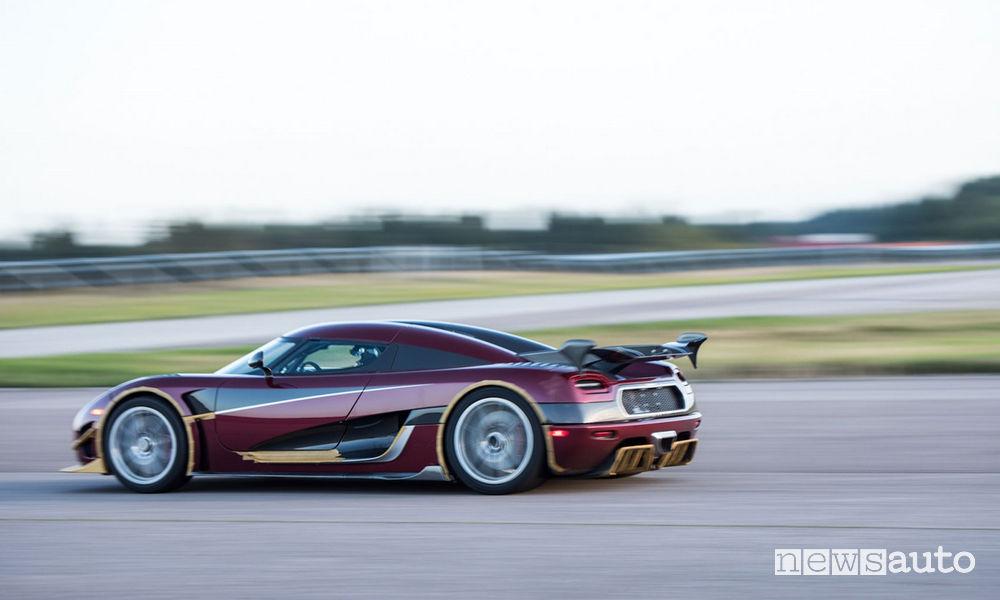 Record di velocità auto Koenigsegg Agera RS