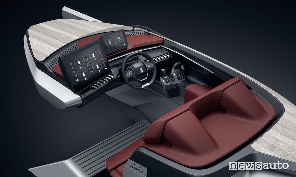 Peugeot i-Cockpit nella nautica Beneteau Sea Drive Concept