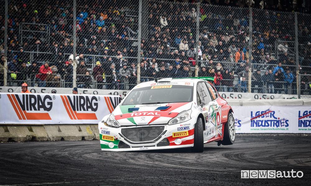 Podio Peugeot Monza Rally Show 2017 con Paolo Andreucci su Peugeot 208 T16
