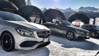 sulla neve in 4x4 Mercedes-Benz 4Matic