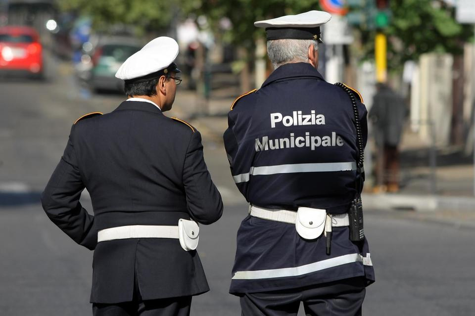 Polizia Municipale verbale multa dopo incidente