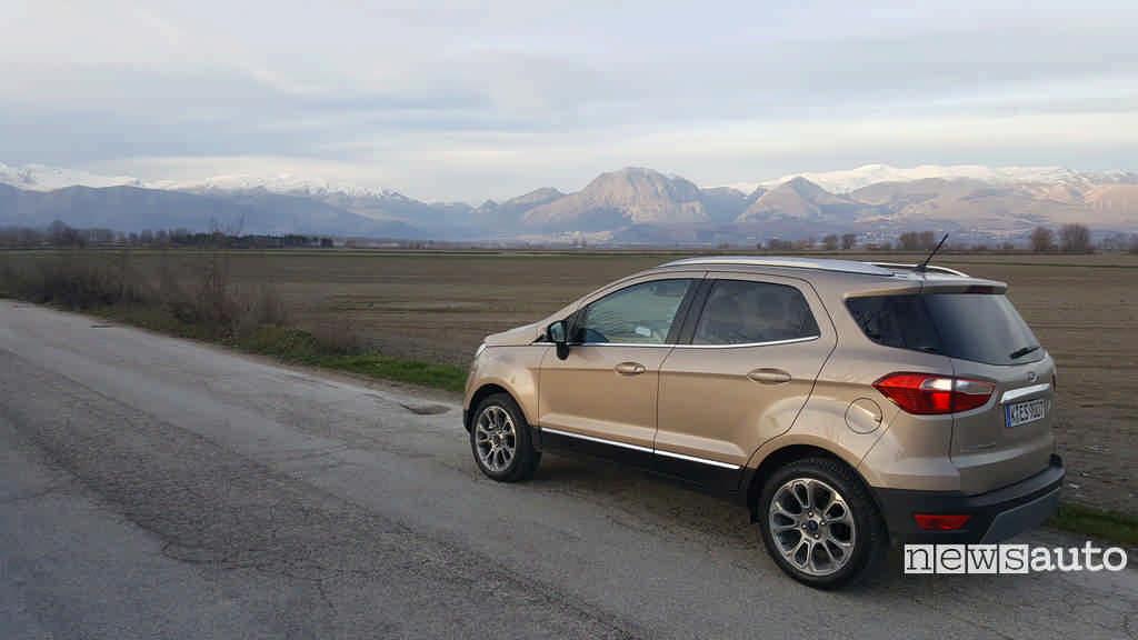 Ford Ecosport 1.0 Ecoboost vista posteriore