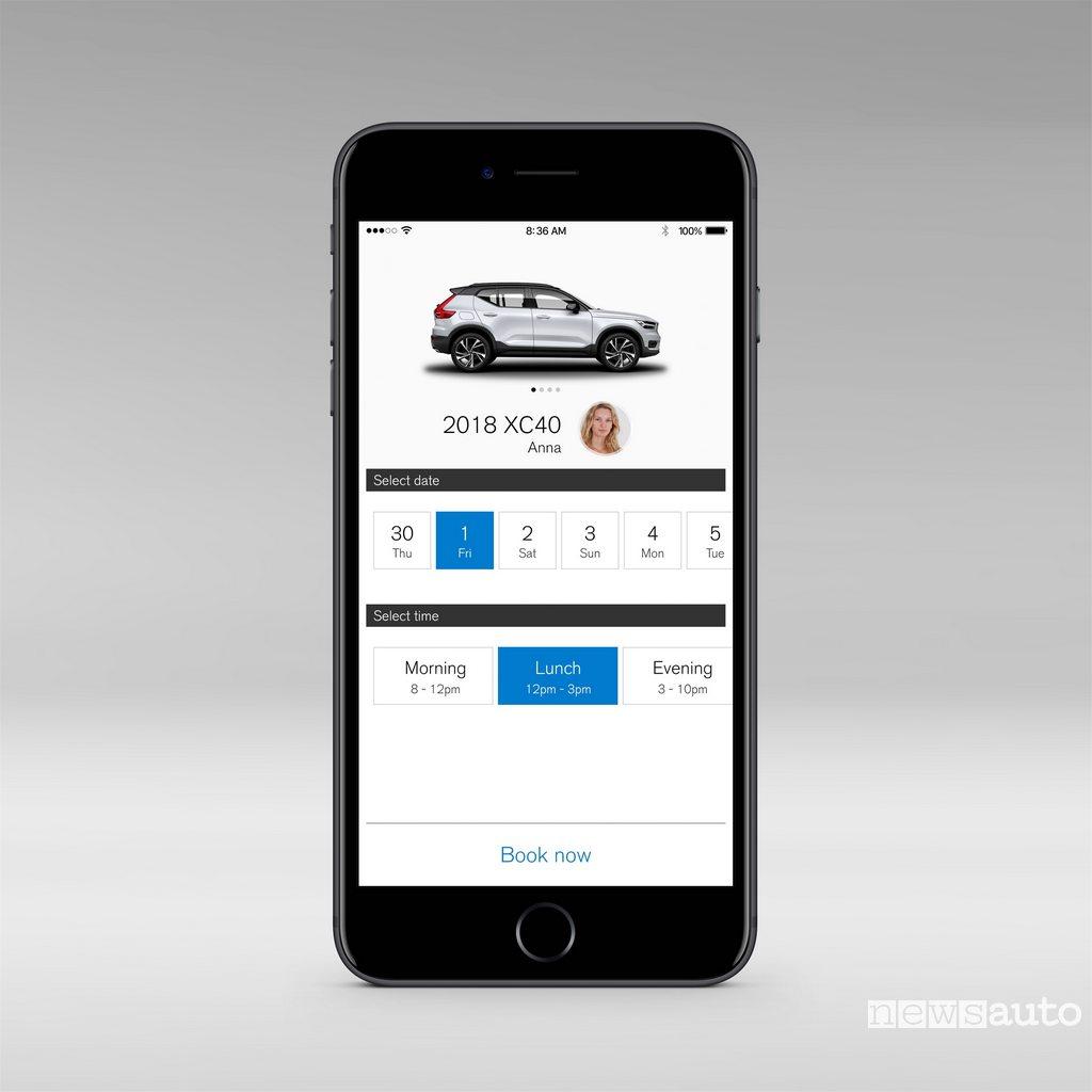 Volvo XC40 - app