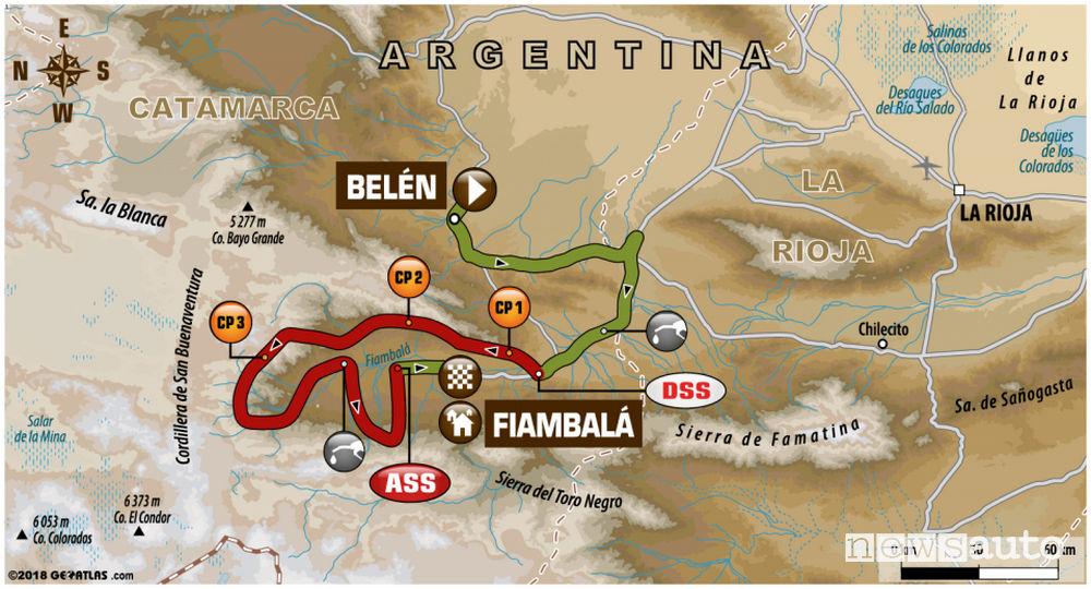 Dakar 2018 11^ tappa mappa Belén-Chilecito