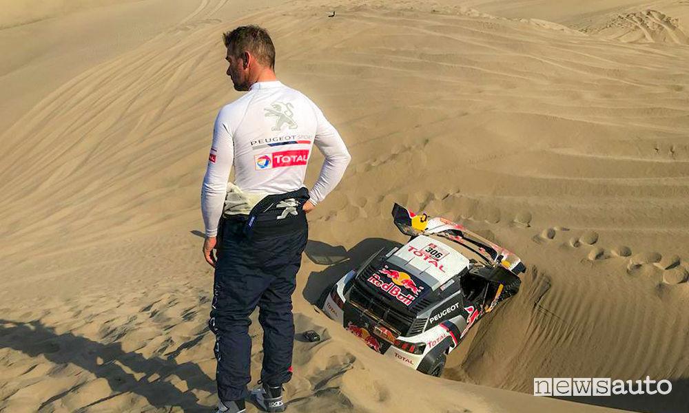 Dakar 2018 5^ tappa Peugeot ritiro Loeb