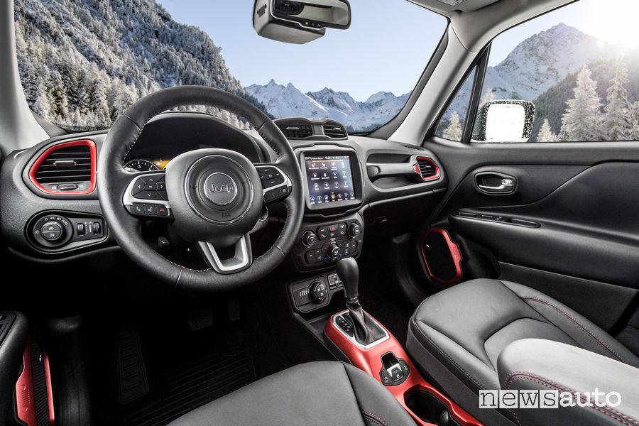10 SUV più venduti in Italia nel 2018 Jeep Renegade interni