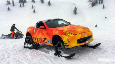 Photo of Nissan 370Z in versione motoslitta