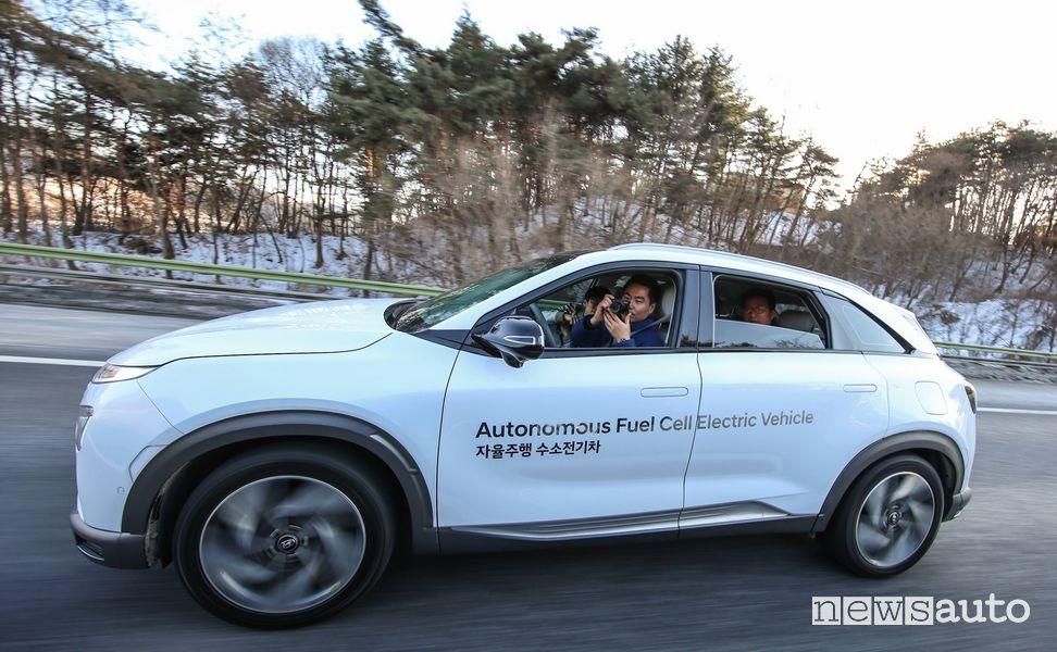 Hyundai Nexo guida autonoma di livello 4