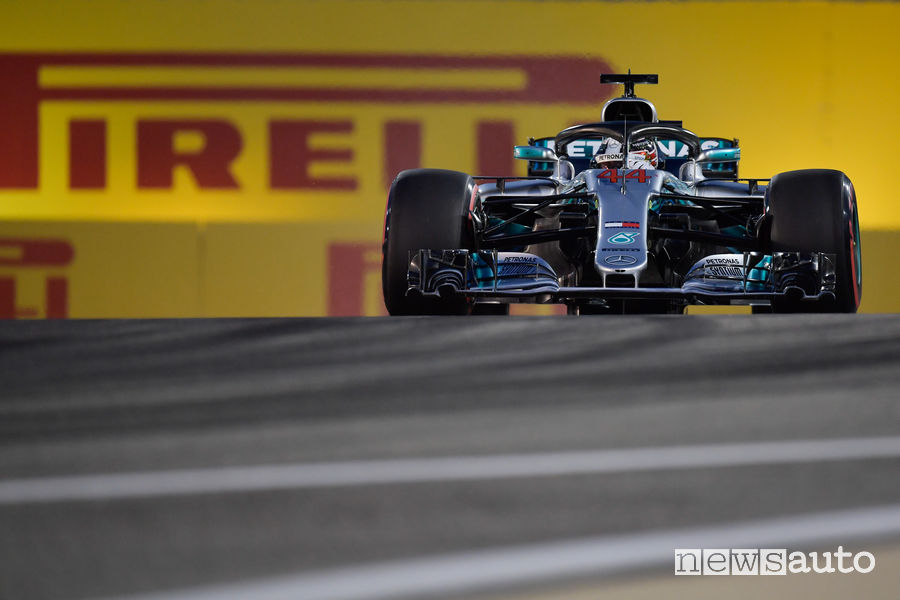 Qualifiche F1 Gp Bahrain 2018 Mercedes Hamilton