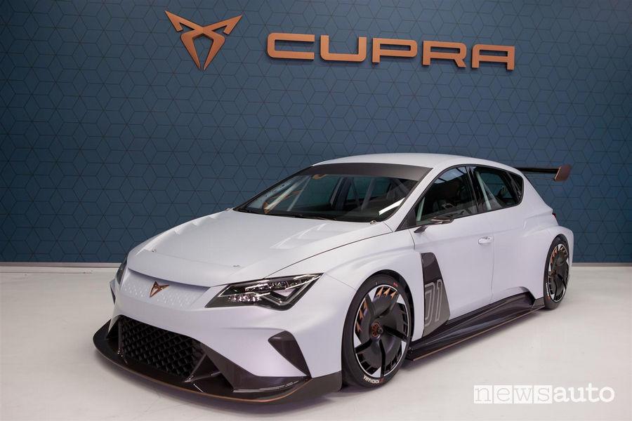 Cupra E-Racer auto elettrica da corsa di Seat Motorsport