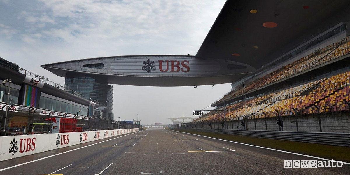Orari Gp Cina F1 2018 circuito di Shanghai