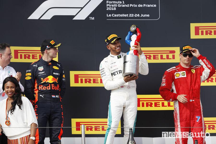 F1 2018 podio gara Francia