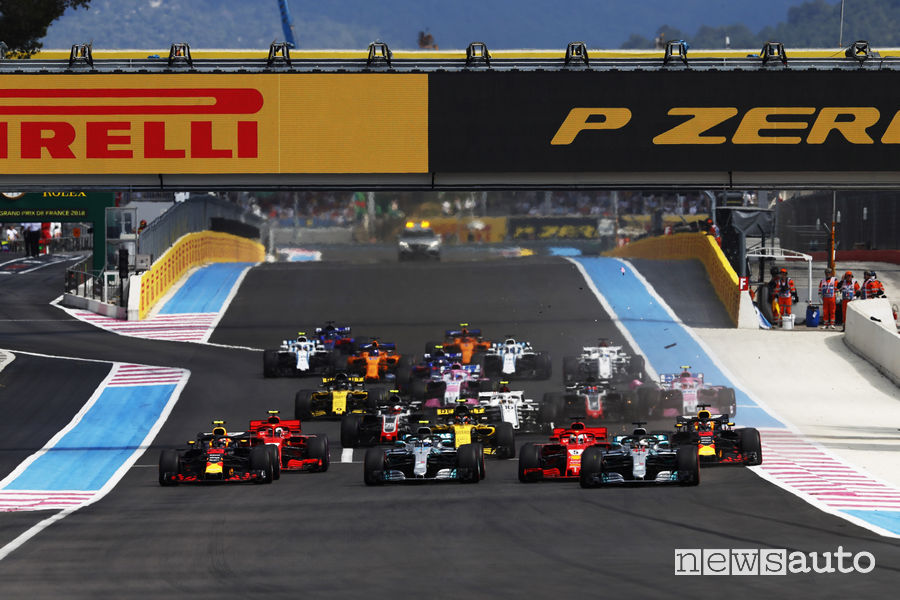 Partenza Gp Francia F1 2018