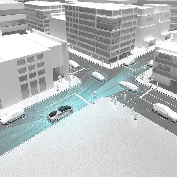 Infografica guida autonoma Bosch e Daimler test in California