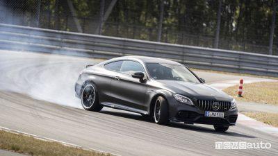 Mercedes-AMG C 63 S Coupé drifting 2019