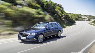 Mercedes-Benz Classe E Wagon vista di profilo