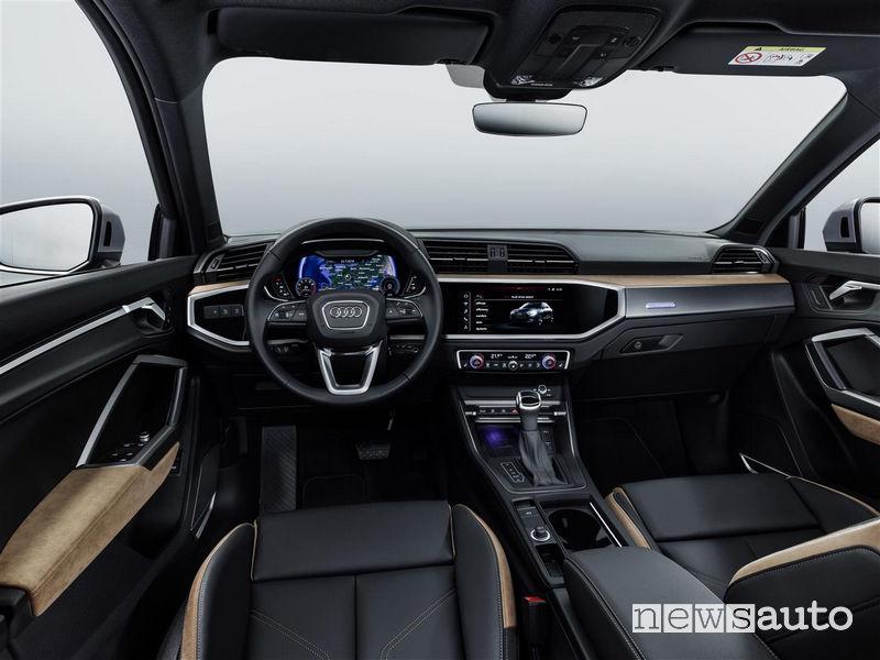 Nuova Audi Q3 2019 abitacolo