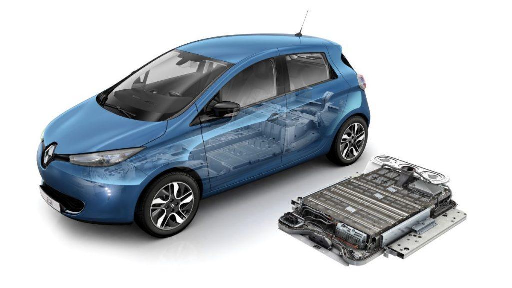 Batteria auto elettrica autonomia 300 km renault zoe 40