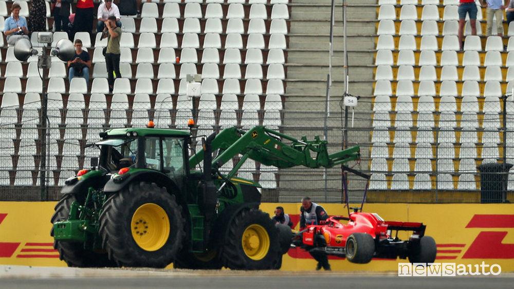 F1 2018 Gp Germania incidente Vettel Ferrari