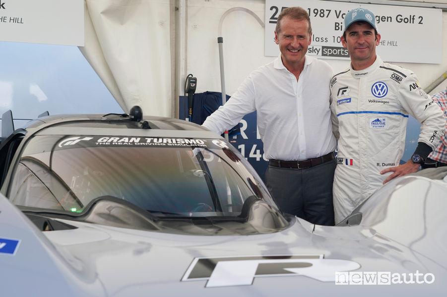 Herbert Diess (CEO Volkswagen) e Roman DUmas al Goodwood Festival 2018