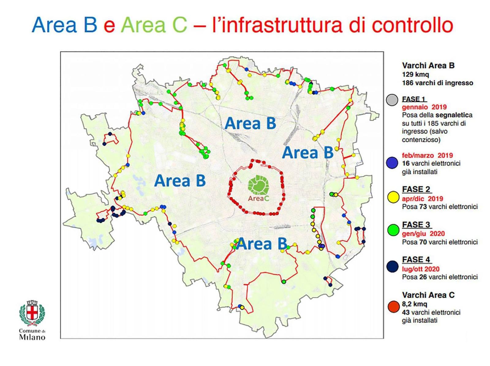 Milano Area B mappa