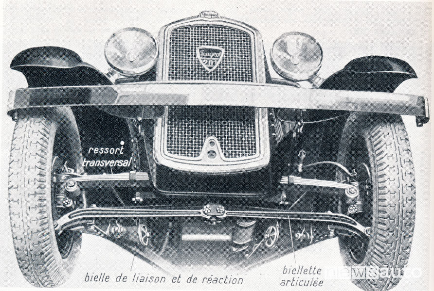 Peugeot 201 con sospensioni indipendenti