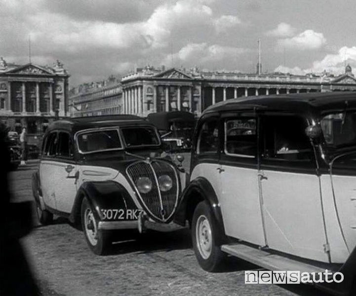 Motore diesel il primo sulla Peugeot 402 taxi 1938