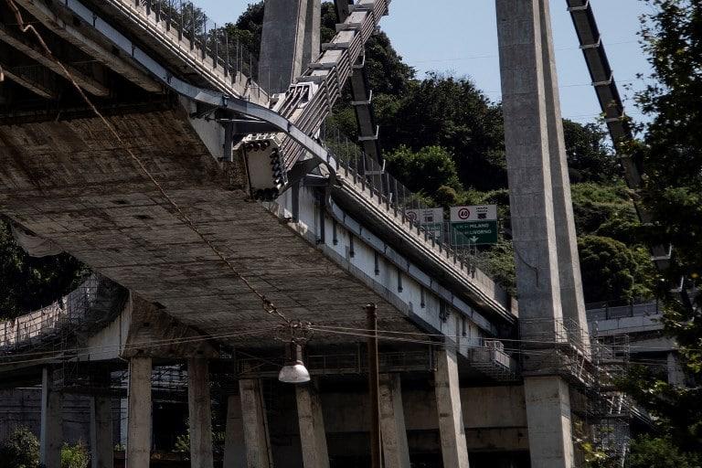 Stralli rinforzati del Ponte Morandi di Genova