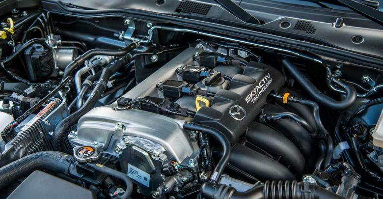 Motore Mazda MX-5 2019 lato collettori aspirazione