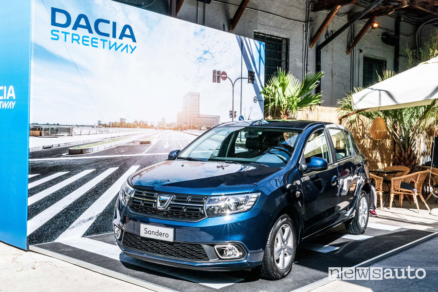 Dacia_Sandero_Streetway 2019. vista di profilo