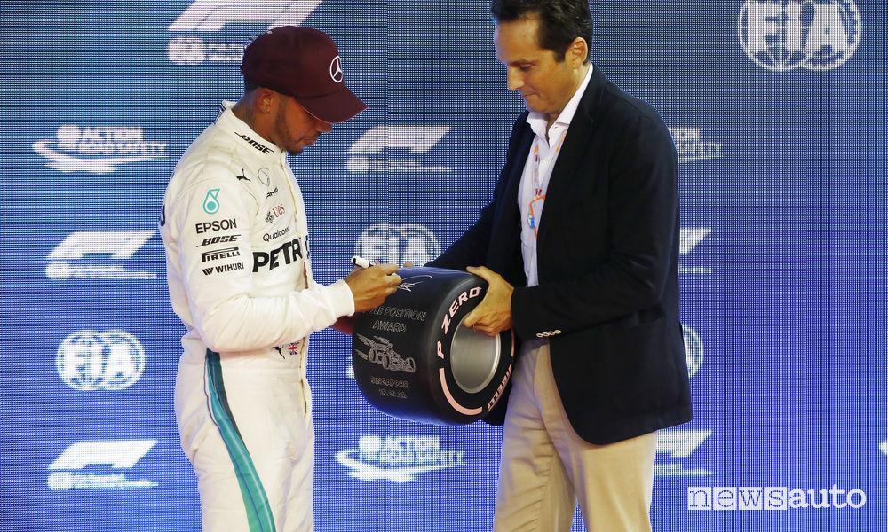 F1 2018 Gp Singapore Lewis Hamilton pole position awards