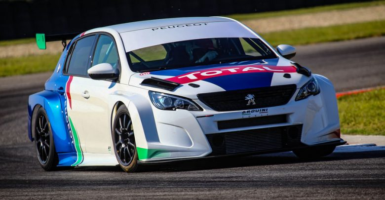 Peugeot 308 da corsa TCR 2019, vista di profilo