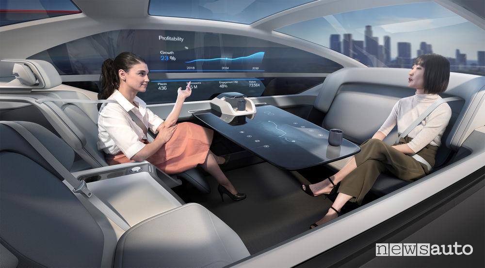 Volvo 360c interni, ufficio mobile
