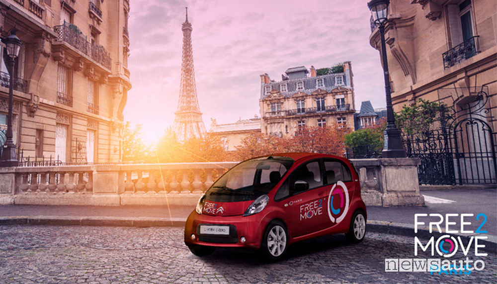 Car sharing Free2Move Parigi