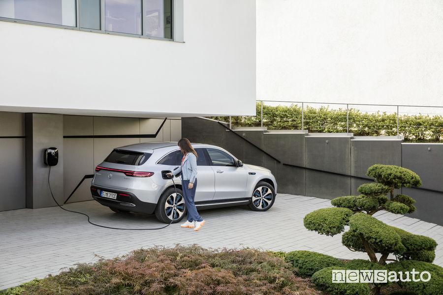 Mercedes-Benz EQC, ricarica domestica