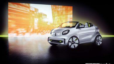 novità smart forease show car, vista di profilo