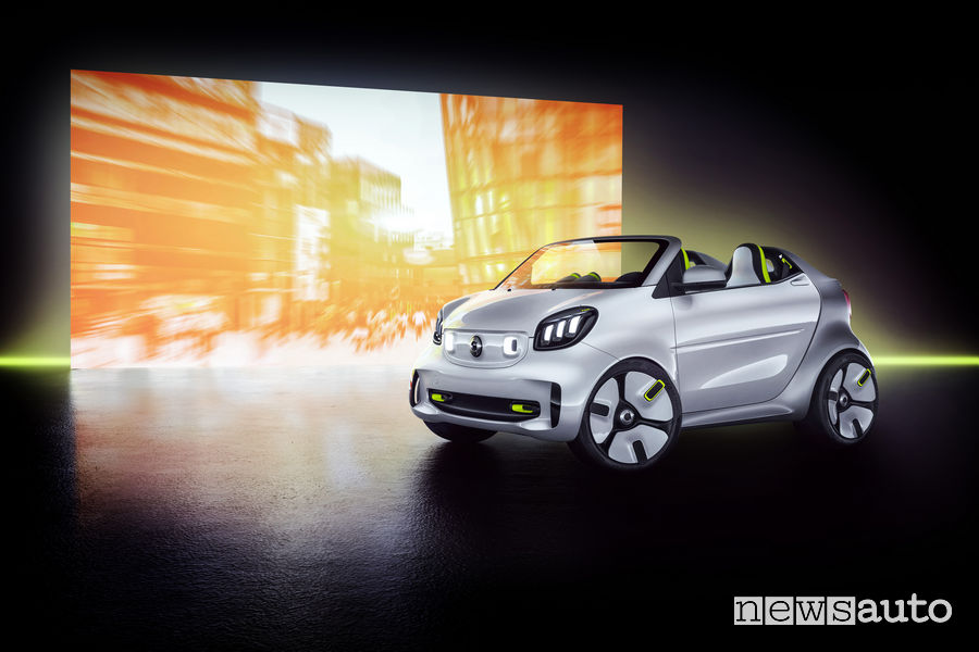 smart forease show car, vista di profilo